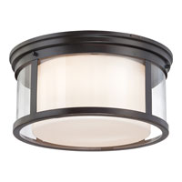 Quoizel Wilson 3 Light Flush Mount in Palladian Bronze WLS1615PN alternative photo thumbnail