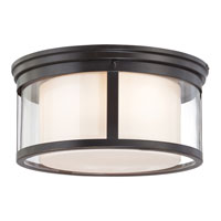 Quoizel WLS1615PN Wilson 3 Light 15 inch Palladian Bronze Flush Mount Ceiling Light alternative photo thumbnail