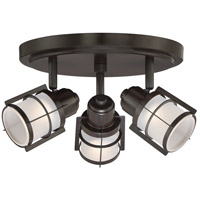 Quoizel WNS1610WT Winside LED 12 inch Western Bronze Flush Mount Ceiling Light
