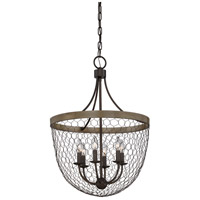 Quoizel WSE5206CG Willowstone 6 Light 21 inch Classic Grey Foyer Piece Ceiling Light