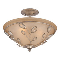 Quoizel Lighting Wesley 3 Light Semi-Flush Mount in Italian Fresco WSY1716IF