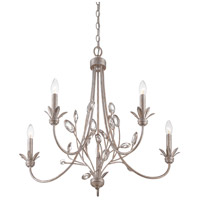 Wesley 5 Light 26 inch Italian Fresco Chandelier Ceiling Light