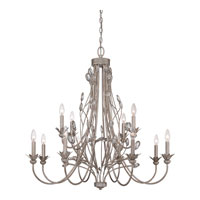 Wesley 12 Light 36 inch Italian Fresco Foyer Chandelier Ceiling Light