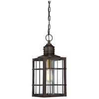 Quoizel WTO1909WT West Oak 1 Light 9 inch Western Bronze Outdoor Hanging Lantern