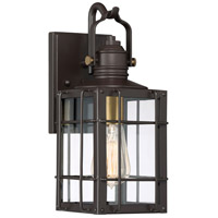 Quoizel WTO8406WT West Oak 1 Light 13 inch Western Bronze Outdoor Wall Lantern