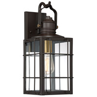 Quoizel WTO8408WT West Oak 1 Light 17 inch Western Bronze Outdoor Wall Lantern