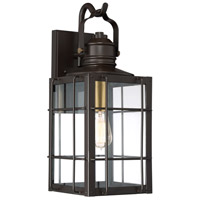 West Oak 1 Light 20 inch Western Bronze Outdoor Wall Lantern