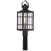 West Oak 1 Light 22 inch Western Bronze Outdoor Post Lantern