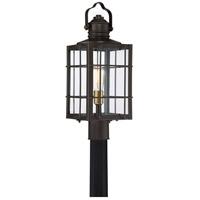 Quoizel WTO9009WT West Oak 1 Light 22 inch Western Bronze Outdoor Post Lantern