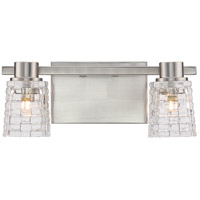 Weave LED 14 inch Brushed Nickel Bath Light Wall Light