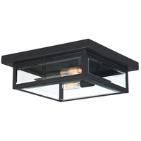 Quoizel WVR1612EK Westover 2 Light 12 inch Earth Black Outdoor Flush Mount