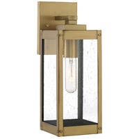 Westover 1 Light 14 inch Antique Brass Outdoor Wall Lantern