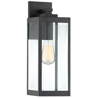 Westover 1 Light 17 inch Earth Black Outdoor Wall Lantern