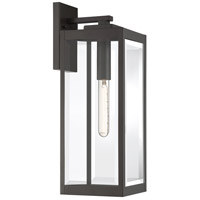 Quoizel WVR8407WT Westover 1 Light 20 inch Western Bronze Outdoor Wall Lantern
