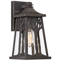 Quoizel WWD8407IB Wildwood 1 Light 12 inch Imperial Bronze Outdoor Wall Lantern, Small
