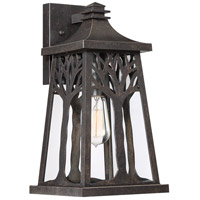 Quoizel WWD8408IB Wildwood 1 Light 15 inch Imperial Bronze Outdoor Wall Lantern, Medium