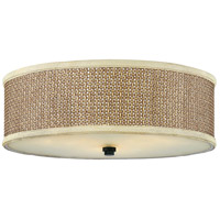 Zen 3 Light 17 inch Mystic Black Flush Mount Ceiling Light, Naturals