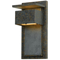 Zephyr 1 Light 14 inch Muted Bronze Outdoor Wall Lantern