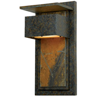 Quoizel ZP8418MD Zephyr 1 Light 18 inch Muted Bronze Outdoor Wall Lantern, Naturals