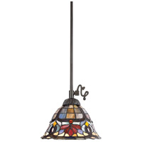 Tiffany 1 Light 9 inch Vintage Bronze Mini Pendant Ceiling Light, Naturals