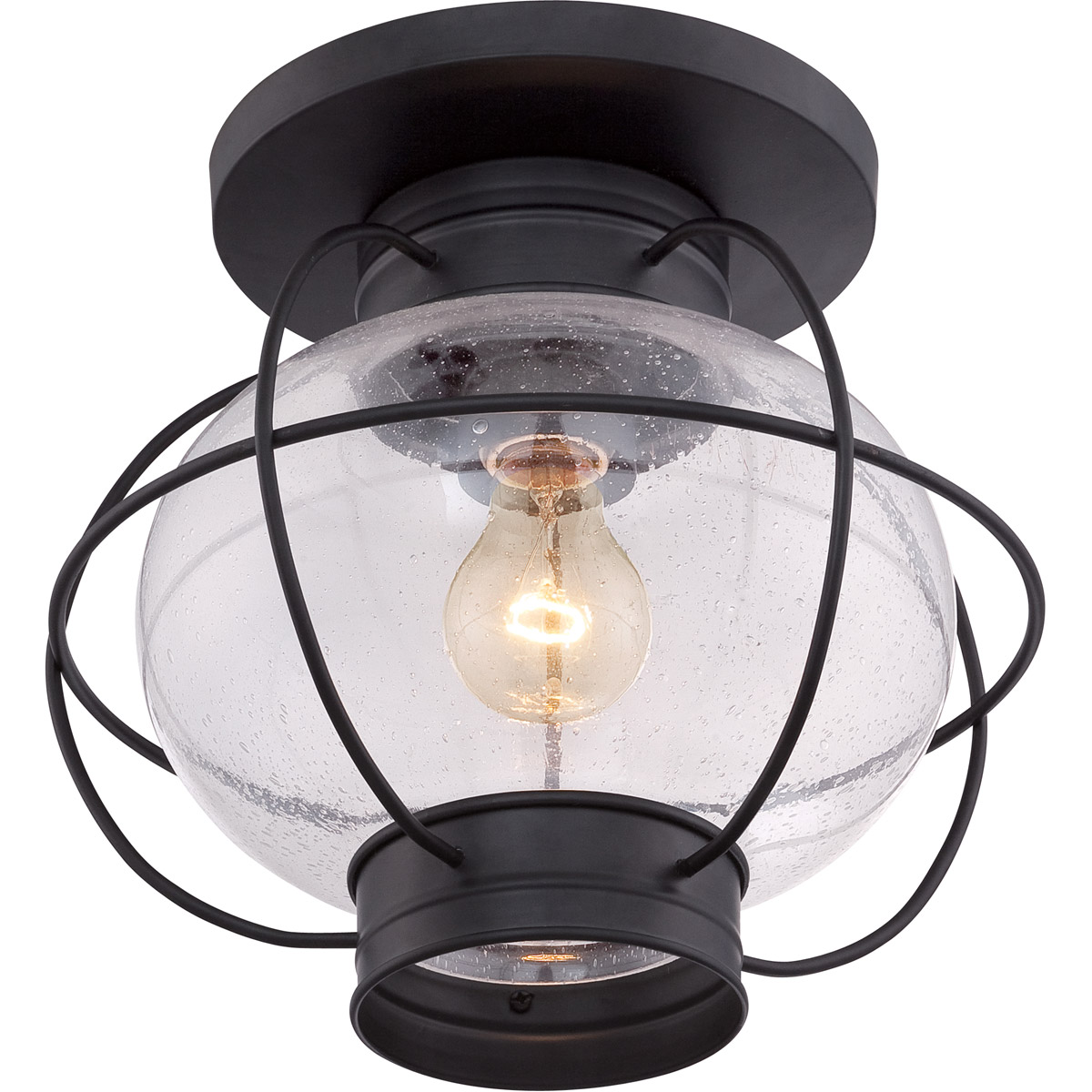 Quoizel Cor1611k Cooper 1 Light 12 Inch Mystic Black Outdoor Flush Mount