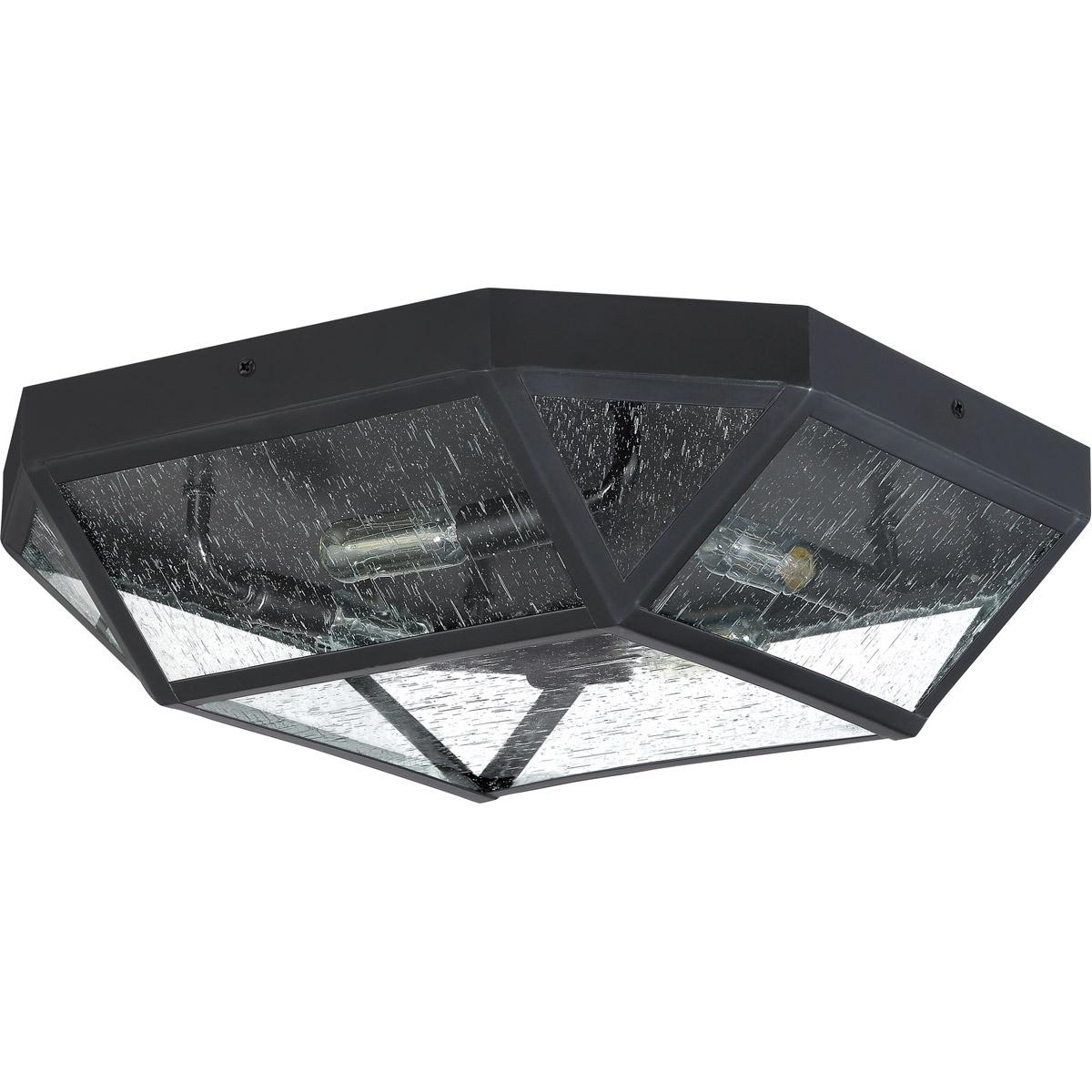Details About Quoizel Qf4059k Pritchett 4 Light 18 Inch Mystic Black Flush Mount Ceiling Light