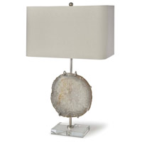 Regina Andrew 13-1161 Exhibit 29 inch 150.00 watt Nickel and Natural Agate Table Lamp Portable Light