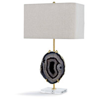 Regina Andrew 13-1162 Exhibit 29 inch 150.00 watt Gold and Smoke Agate Table Lamp Portable Light