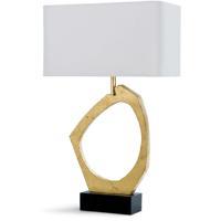 Regina Andrew 13-1176 Manhattan 30 inch 150.00 watt Gold Leaf Table Lamp Portable Light