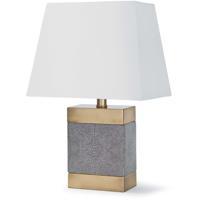 Regina Andrew 13-1188 Elliot 19 inch 100.00 watt Charcoal Table Lamp Portable Light