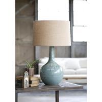 Regina Andrew 13-1189 Fluted 27 inch 150.00 watt Blue Table Lamp Portable Light