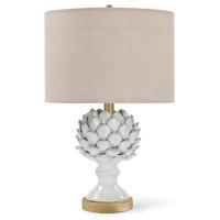 Regina Andrew 13-1194 Leafy Artichoke 21 inch 100.00 watt Off White Table Lamp Portable Light