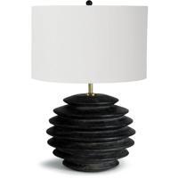 Regina Andrew 13-1209EB Coastal Living Accordion 26 inch 150.00 watt Ebony Table Lamp Portable Light, Round