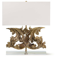 Regina Andrew 13-1361 Scroll 27 inch 100.00 watt Antique Gold Table Lamp Portable Light