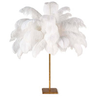 Regina Andrew 13-1418 Josephine Feather 32 inch 60.00 watt Gold Leaf Table Lamp Portable Light