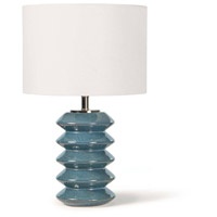 Regina Andrew 13-1469 Teton 21 inch 150.00 watt Blue Table Lamp Portable Light