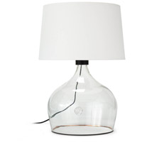 Regina Andrew 13-1478 Coastal Living Demi John 27 inch 150.00 watt Clear Table Lamp Portable Light Large