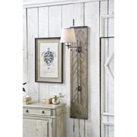 Regina Andrew 15-1004 Herringbone 25 inch 60.00 watt Aged White Wash Swing Arm Sconce Wall Light