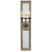 Regina Andrew 15-1012 Three Arm 3 Light 9 inch Distressed Painted Sconce Wall Light Small