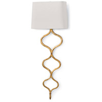 Regina Andrew 15-1018GL Sinuous 1 Light 12 inch Gold Leaf Sconce Wall Light
