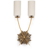 Regina Andrew 15-1064 Louis 2 Light 14 inch Antique Gold Sconce Wall Light