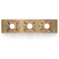 Regina Andrew 15-1110 Bella 3 Light 22 inch Natural Brass Sconce Wall Light