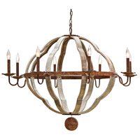 Regina Andrew 16-1005 Wooden 8 Light 42 inch Distressed Painted Chandelier Ceiling Light Quatrefoil