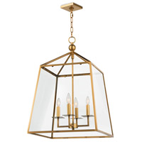 Regina Andrew 16-1010NB Cachet 4 Light 18 inch Natural Brass Ceiling Lantern Ceiling Light