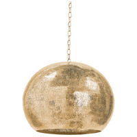 Regina Andrew 16-1016NB Pierced 5 Light 18 inch Natural Brass Pendant Ceiling Light Metal Sphere