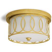 Regina Andrew 16-1071GL Fusion 2 Light 10 inch Gold Leaf Flush Mount Ceiling Light
