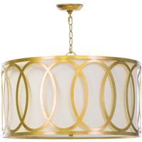 Regina Andrew 16-1077GL Fusion 3 Light 26 inch Gold Leaf Chandelier Ceiling Light