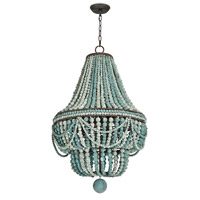 Regina Andrew 16-1083BL Malibu 6 Light 21 inch Blue Chandelier Ceiling Light