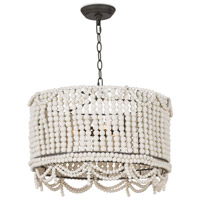 Regina Andrew 16-1147WT Malibu 3 Light 20 inch White Drum Pendant Ceiling Light photo thumbnail