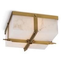 Regina Andrew 16-1160NB Gotham 2 Light 15 inch Natural Brass Flush Mount Ceiling Light